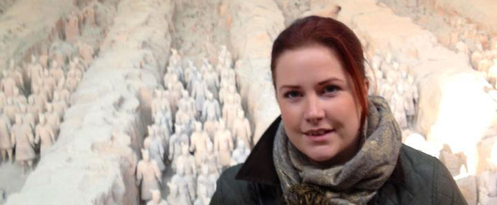 Carla at the Terracotta Army