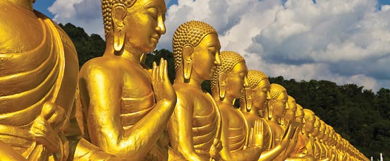 Golden Bhuddas in Thailand